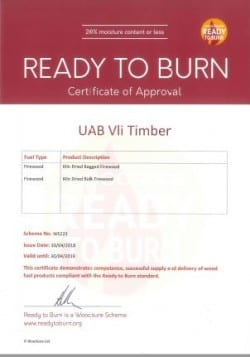 Ready to Burn Certificate